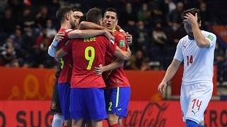 Tây Ban Nha, Bồ Đào Nha và Iran vào tứ kết Futsal World Cup 2021