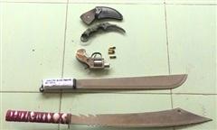 8 đối tượng dùng súng, hung khí giải quyết mâu thuẫn gây náo loạn