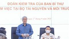 Ban Bí thư kiểm tra về đạo đức lối sống, trách nhiệm nêu gương tại Bộ TN-MT