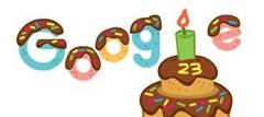 Google mừng sinh nhật 23 tuổi với doodle mới