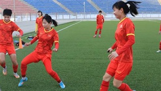 Tuyển nữ Việt Nam hướng đến mục tiêu đánh bại Tajikistan