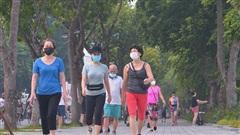 Người dân Thủ đô phấn khởi trong ngày hội 'toàn dân tập thể dục'