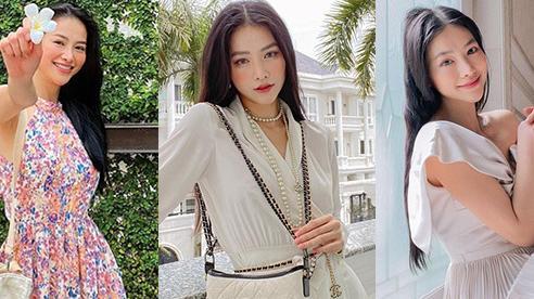 Hoa hậu Phương Khánh đẹp dịu dàng với váy áo đơn sắc