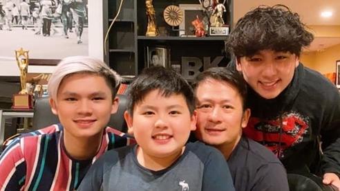 Hai con trai 1m80 cao lớn vượt bố Bằng Kiều