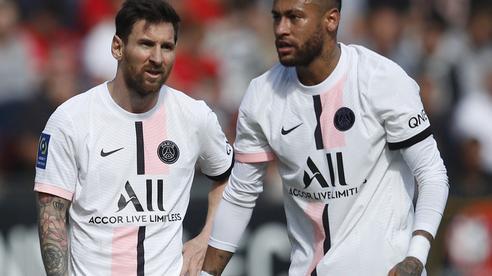 Bộ ba Messi - Neymar - Mbappe 'tịt ngòi', PSG thua trận đầu ở Ligue 1