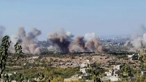Video: Idlib hứng hàng trăm cuộc không kích dữ dội chỉ trong vài giờ
