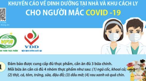 Khuyến cáo dinh dưỡng tại nhà và khu cách ly cho bệnh nhân Covid-19