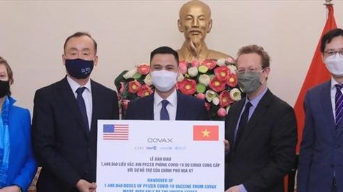 Việt Nam tiếp nhận thêm 1,5 triệu liều vaccine Pfizer từ chương trình COVAX