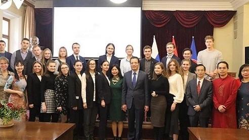 Đại sứ quán Việt Nam tổ chức giao lưu với sinh viên học tiếng Việt tại Nga