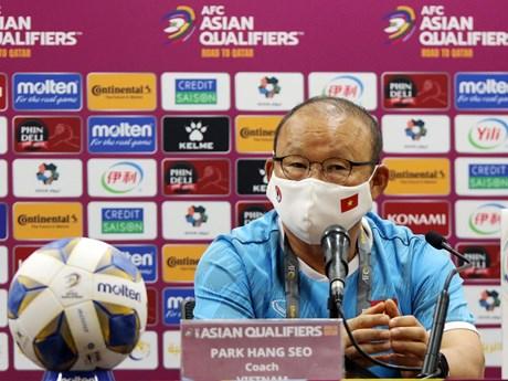HLV Park Hang-seo thừa nhận áp lực về mục tiêu phải thắng Trung Quốc