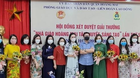 Quận Hoàng Mai: Xét chung khảo giải thưởng 'Nhà giáo Hoàng Mai tâm huyết, sáng tạo' lần thứ 5