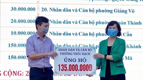 Quận Ba Đình tiếp nhận ủng hộ gần 2,2 tỷ đồng vào Quỹ 'Vì người nghèo'