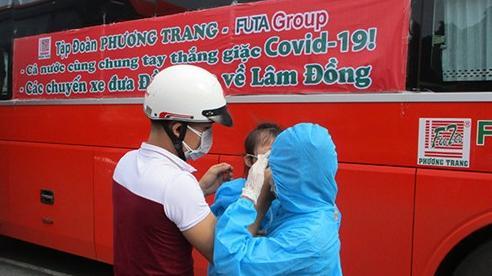 Lâm Đồng tiếp tục đón hơn 1.000 công dân về quê