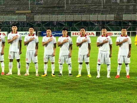 Giao hữu bóng đá, đội tuyển U23 Việt Nam hòa U23 Tajikistan