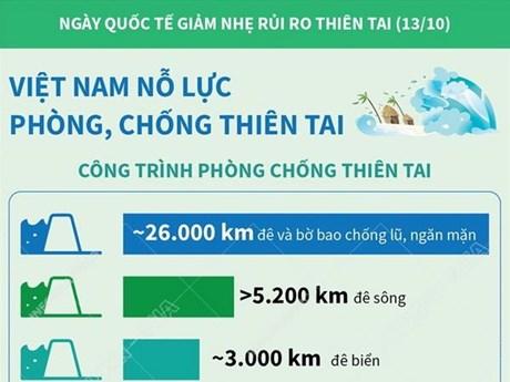 [Infographics] Việt Nam nỗ lực trong phòng, chống thiên tai
