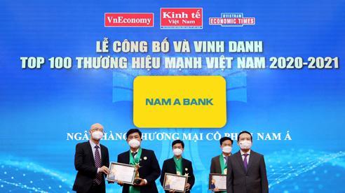 Nam A Bank liên tiếp 6 lần đạt thương hiệu mạnh Việt Nam