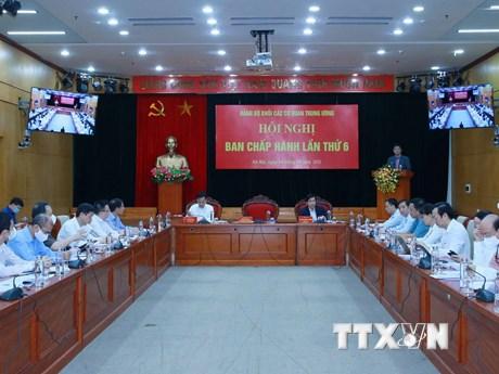 Hội nghị Ban Chấp hành Đảng bộ Khối các cơ quan Trung ương lần thứ 6