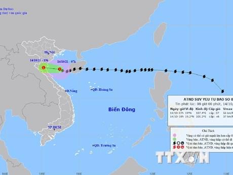 Bão số 8 suy yếu thành áp thấp nhiệt đới, đi vào Thanh Hóa, Nghệ An