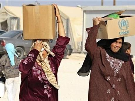 UNHCR-WB phối hợp viện trợ cho các nước tiếp nhận người tị nạn Syria