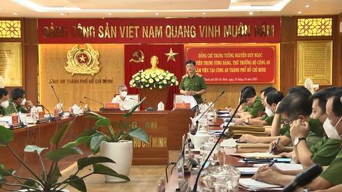 Thứ trưởng Bộ Công an Nguyễn Duy Ngọc làm việc với Công an TPHCM