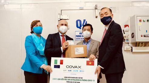 Việt Nam tiếp nhận thêm hơn 2 triệu liều vaccine AstraZeneca do Italy trao tặng