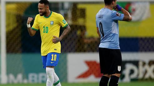 Suarez so tài ghi bàn với Neymar, Uruguay thảm bại trước Brazil