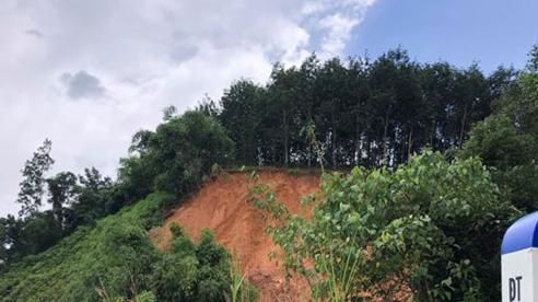 Mưa lớn gây sạt lở tuyến đường Bình Phước đi Lâm Đồng