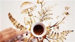 'Hô biến' những giọt cà phê đổ ra sàn thành bức tranh tuyệt đẹp