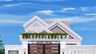 Mẫu nhà mái thái 1 tầng đang được ưa chuộng xây nhiều ở nông thôn