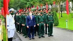 Lãnh đạo Bộ Quốc phòng dâng hương tưởng niệm anh hùng liệt sĩ Đoàn tàu không số