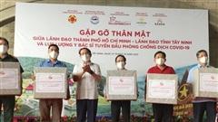 Bí thư Thành ủy TPHCM Nguyễn Văn Nên cùng lực lượng tuyến đầu tham quan Củ Chi - Tây Ninh