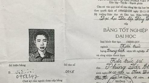 Thái Bình: Tạm đình chỉ công tác Viện trưởng Viện quy hoạch nghi dùng bằng giả