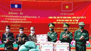 Hỗ trợ lương thực, thực phẩm, vật tư y tế phòng, chống dịch Covid-19 cho các đơn vị bảo vệ biên giới của Lào