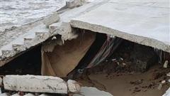 Kè 26 tỷ ở Quảng Bình thiết kế chống bão cấp 9-10, chưa bão đã sập