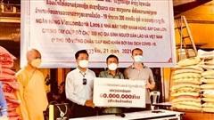 Chùa Phật Tích, Hội người Việt Nam tại Lào hỗ trợ 200 gia đình gặp khó khăn do Covid-19