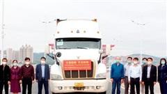 Quảng Ninh tiếp nhận hàng viện trợ chống dịch của tỉnh Quảng Tây (Trung Quốc)