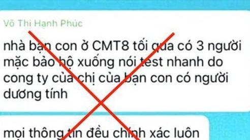 Công an TP Hồ Chí Minh lên tiếng vụ 'nhân viên test COVID-19 gây mê chiếm tài sản'