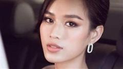 Hoa hậu Đỗ Thị Hà diện đầm pastel, khoe vai trần quyến rũ