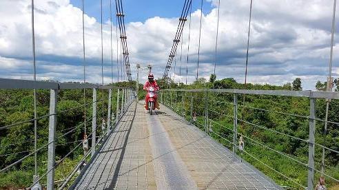 Xóa cảnh người dân 'đu dây cáp vượt sông' ở Đắk Lắk, bớt nỗi lo tai nạn mùa mưa lũ