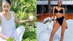Hoa hậu Phạm Hương ở Mỹ sướng đủ thứ đến cân nặng cũng không lo tăng vì 'bí quyết' hiếm ai có
