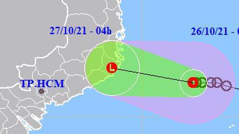 Đêm nay 26-10, áp thấp nhiệt đới giật cấp 9 vào Khánh Hòa - Bình Thuận
