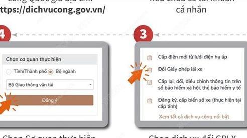 [INFOGRAPHIC] Xem xét, triển khai đổi giấy phép lái xe trực tuyến trên toàn quốc từ năm 2022