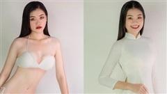 Nữ sinh 18 tuổi cao 1m81 thi Hoa hậu Hoàn vũ Việt Nam 2021