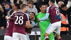 Man City bị West Ham hất bay khỏi cúp Liên đoàn Anh