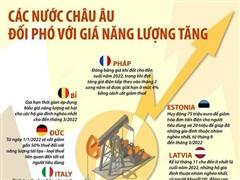 [Infographics] Các nước châu Âu đối phó với giá năng lượng tăng