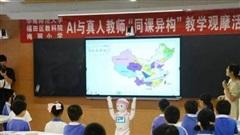 Một trường tiểu học ở Trung Quốc đưa 'giáo viên AI' vào lớp tham gia giảng dạy