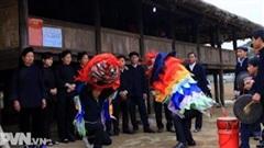 Múa Lân nét văn hóa ngày xuân của người Tày