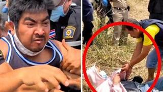 Hiện trường thực nghiệm vụ nữ sinh bị cưỡng hiếp và giết chết khi đi đổ xăng: Thái độ lạnh gáy của kẻ thủ ác và phản ứng đau đớn của người cha