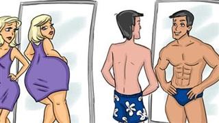 Chùm ảnh minh họa hài hước cho thấy đúng là 'đàn ông đến từ sao Hỏa, đàn bà đến từ sao Kim'