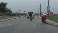 Thanh niên điều khiển xe máy lạng lách, vượt ẩu bị ô tô tông trực diện